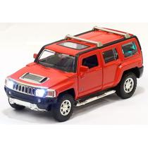 Miniatura Hummer H3 2007 Vermelha Com Luz E Som