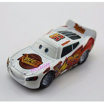 Disney Cars Relâmpago Mcqueen Branco Original Mattel Loose