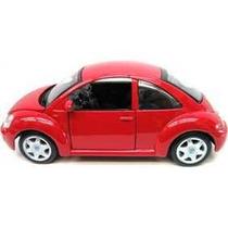 Mini Carrinho Colecionável Volkswagen New Beetle Escala 1:25