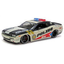 Dodge Challenger Police 911 1:24 Maisto 31342-branco