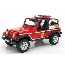 Miniatura De Jeep Wrangler Rubicon Vermelho 1:18 Maisto