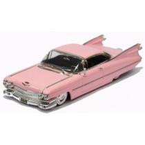 Miniatura Cadillac Coupe De Ville 1958 Rosa 1/24