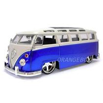 Volkswgen Kombi 1962 Tunning 1:24 Jada Toys 91694-azul