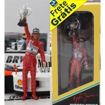 1/18 Figura Do Piloto Ayrton Senna Podim Gp Brasil F1 1991