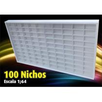 Estante (100 Nichos) Hot Wheels 1;64 - Coleção - Miniaturas