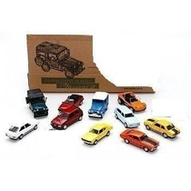 Coleção 12 Miniatura Carros Do Brasil Clássicos Nacionais