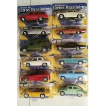 Coleção Com 12 Miniaturas Da História Dos Carros Brasileiros