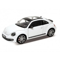1/24 Novo Fusca Beetle Welly 24032 Branco Miniatura Vw Volks