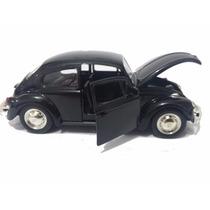 Carrinho Fusca Preto De Ferro - Beetle - Miniatura 1/32