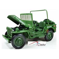 Jeep Militar Usa Escala 1:18