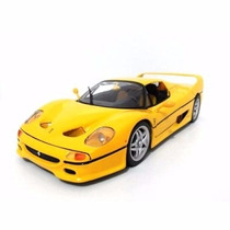 Miniatura Réplica Ferrari F50 Amarela Maisto Kit Para Montar