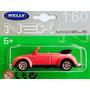 Miniatura Vw Fusca Pink Conversível Welly-escala 1:60 Novo !