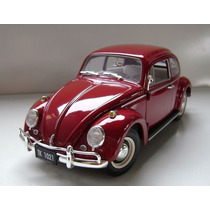 Mini Volkswagen Vw Fusca 1963 Johnny Lightning 1:18 Raridade