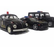 Carrinho Policia Federal Kit Fusca, Camaro E Defender