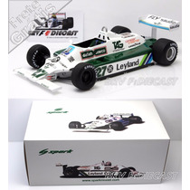 1/18 Spark Williams Fw07b Alan Jones Campeão Da F1 1980