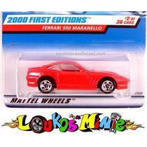 Hot Wheels Ferrari 550 Maranello 62 De 2000 Lacrado 1:64