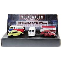 Diorama Volkswagen Clássicos 5 Carros Greenlight 1:64 58005