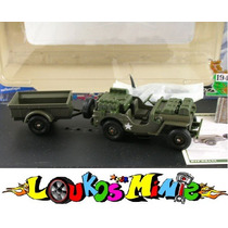Solido Willys Jeep De Guerra Com Reboque Edição Comemorativa