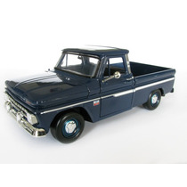 1/24 Chevy C10 Fleetside C-10 Pick Up 1966 Azul Motormax