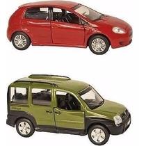 Miniaturas Metal Carros Do Brasil Fiat Punto+doblo - 11 Cm