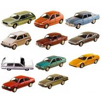 Kit Com 11 Carros Clássicos Nacionais Brasileiros 11cm