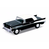 Miniatura De Carro Chevrolet Bel Air 1957 Preto 1:41 Welly