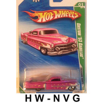 Hot Wheels T-hunt 2010 Custom 53 Cadillac Rosa Pink
