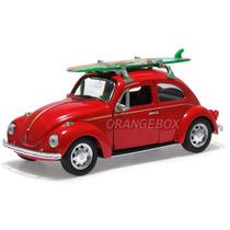 Volkswagen Fusca Beetle 1:34 Surf Welly 42344surf-vermelho
