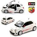 Fiat 500c Abarth Esseesse Branco Bburago 1:24