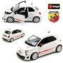 Fiat 500c Abarth Esseesse Branco Bburago 1:24