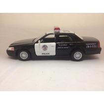 Miniatura Carro Carrinho Ford Policia Police Antigo Eua 1/42