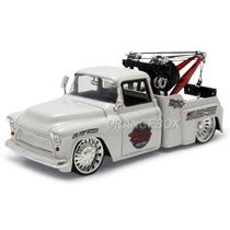 Chevy Stepside Tow Truck 1955 1:24 Jada Toys #96401-branco