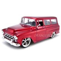 Chevy Suburban 1957 Jada Toys 1/24 #53267-vermelho