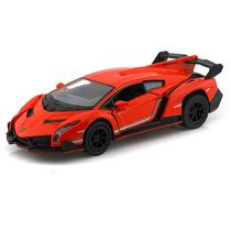 Carrinho Lamborghini Veneno Laranja 1/36 Ferro E Fricção