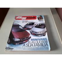 Revista Quatro Rodas- Mini Vans Elas Querem A Sua Familia