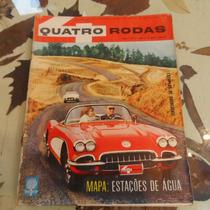 Quatro Rodas # 8 Março 1961 Mapa Estaçoes De Agua