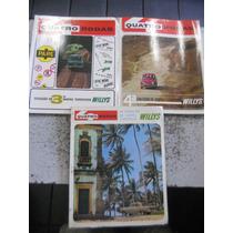 Quatro Rodas Coleção De Mapas Turísticos Willys 3 Exemplares
