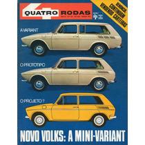 Quatro Rodas Nº140 Março 1972 Vw Mini Variant