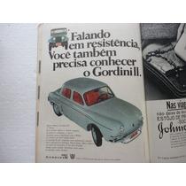 Revista 4 Rodas Antiga 1966 Fusca/rural/gordini