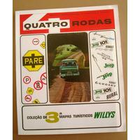 A2424 Revista 4 Rodas,contendo Mapas Turísticos Willis Overl