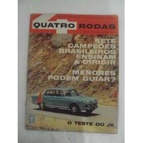 Revista Quatro Rodas N 25 Agosto De 1962 - O Teste Do Jk