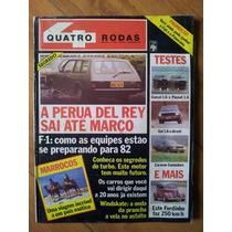 Revista 4 Quatro Rodas Dezembro1981 Opala Caravan C-10 Fusca