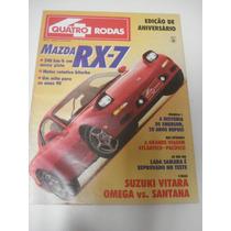 Revista Quatro Rodas Mazda Rx 7 Suzuki Vitara Omega Santana
