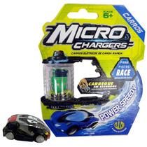 Carrinho Avulso Chassi Azul Para Pista Micro Charger Race