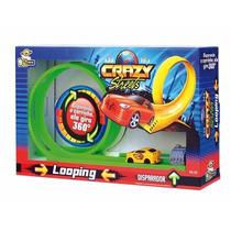 Pista Looping Carrinho Crazy Streets Com Disparador Bstoys