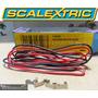Autorama Scalextric Fios De Silicone Vermelho E Preto 1.2m