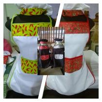 Conjunto Avental E Touca De Cozinha