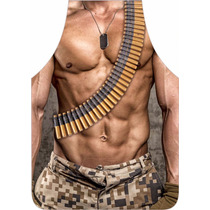 Avental Personalizado Masculino Militar Sarado - Permeável