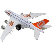 Avião Brinquedo Gol Acende A Luz Fricção, Som E Luz