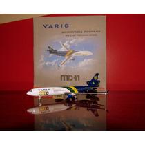 Avião Md-11 Varig Copa Do Mundo Starjets 1:500 (12.30 Cm)
